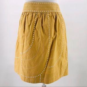 Anthropologie Floreat Enchanted Beans Skirt